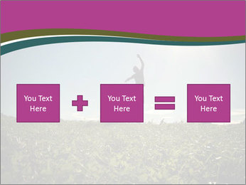 Man Jumping In Field PowerPoint Templates - Slide 95