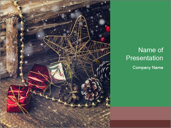 Christmas Star PowerPoint Template - Slide 1