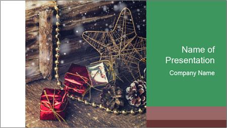 Christmas Star PowerPoint Template