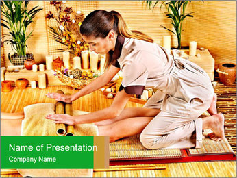Asian Massage Therapy PowerPoint Templates - Slide 1