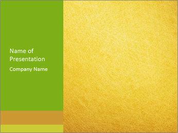 Golden Surface PowerPoint Template - Slide 1