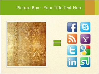 Golden Surface PowerPoint Template - Slide 21