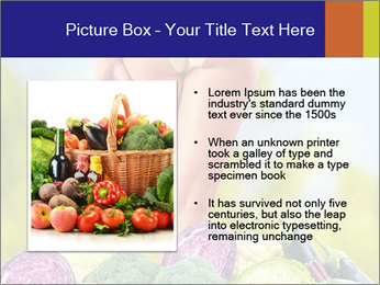 Slim Woman Vegetarian PowerPoint Templates - Slide 13