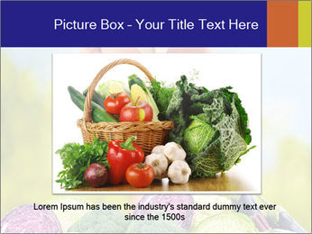 Slim Woman Vegetarian PowerPoint Templates - Slide 15