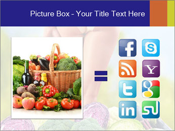 Slim Woman Vegetarian PowerPoint Templates - Slide 21