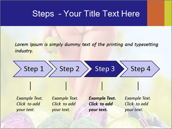 Slim Woman Vegetarian PowerPoint Templates - Slide 4