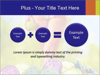 Slim Woman Vegetarian PowerPoint Templates - Slide 75