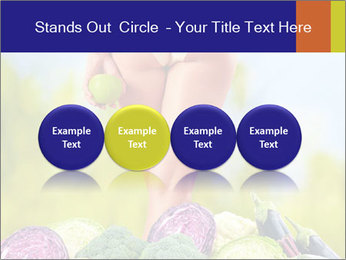 Slim Woman Vegetarian PowerPoint Templates - Slide 76