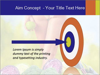Slim Woman Vegetarian PowerPoint Templates - Slide 83