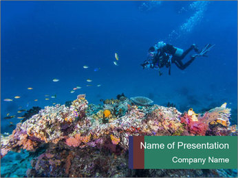 Professional Diver PowerPoint Template - Slide 1