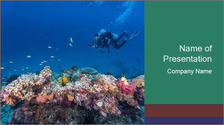 Professional Diver PowerPoint Template