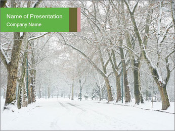 Winter Park PowerPoint Templates - Slide 1