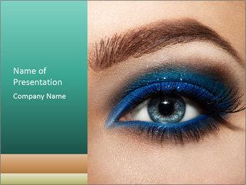 Macro Makeup PowerPoint Template - Slide 1