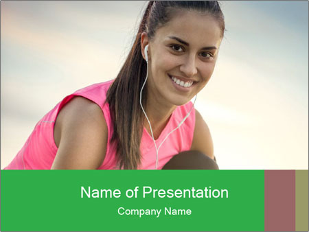Woman Training PowerPoint Templates