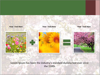 Pink Tree Blossoming PowerPoint Template - Slide 22