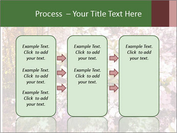 Pink Tree Blossoming PowerPoint Template - Slide 86
