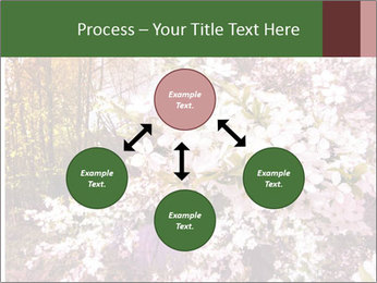 Pink Tree Blossoming PowerPoint Template - Slide 91