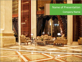 Hotel Hall PowerPoint Template - Slide 1