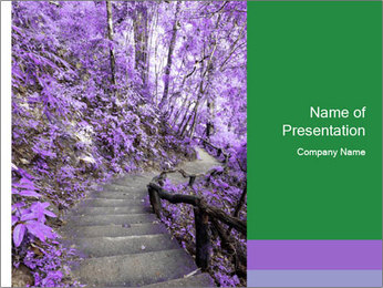 Fantasy Footpath PowerPoint Templates - Slide 1