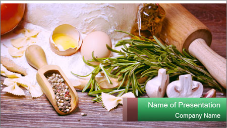 Cooking Preparation PowerPoint Template