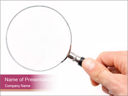 Detective With Loupe PowerPoint Templates