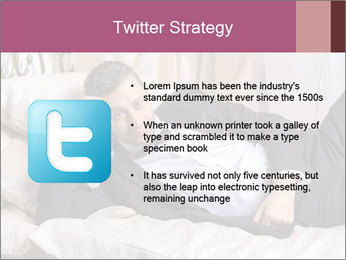 Macho In Bed PowerPoint Template - Slide 9