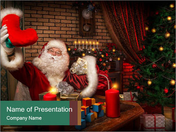 Magic Santa PowerPoint Templates - Slide 1