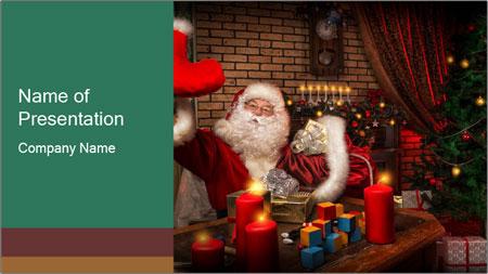 Magic Santa PowerPoint Template