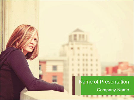 Stylish Independent Woman PowerPoint Template
