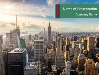 Panoramic City PowerPoint Template - Slide 1