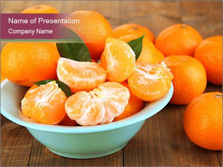Sweet Tangerin PowerPoint Template