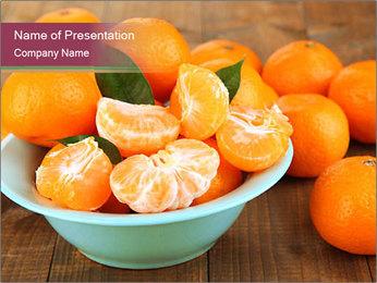 Sweet Tangerin PowerPoint Template - Slide 1