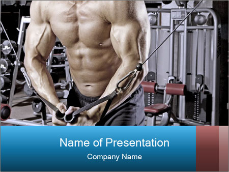 Gym Workout For Men PowerPoint Templates