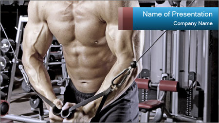 Gym Workout For Men PowerPoint Template