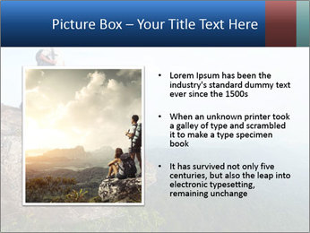 Couple Sitting On Cliff PowerPoint Template - Slide 13