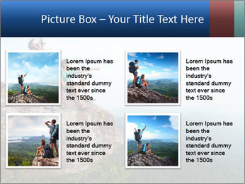 Couple Sitting On Cliff PowerPoint Template - Slide 14