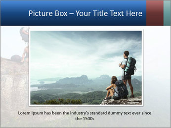 Couple Sitting On Cliff PowerPoint Template - Slide 15