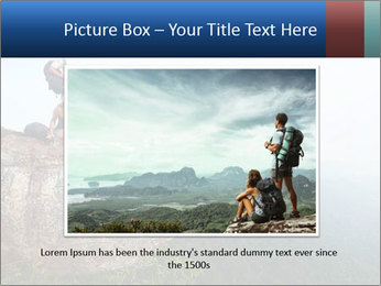 Couple Sitting On Cliff PowerPoint Template - Slide 16