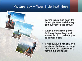 Couple Sitting On Cliff PowerPoint Template - Slide 17