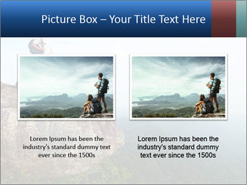Couple Sitting On Cliff PowerPoint Template - Slide 18