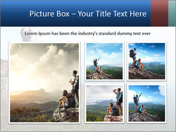 Couple Sitting On Cliff PowerPoint Template - Slide 19