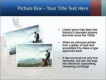 Couple Sitting On Cliff PowerPoint Template - Slide 20