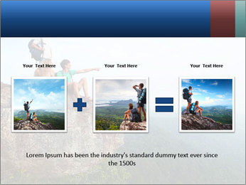 Couple Sitting On Cliff PowerPoint Template - Slide 22