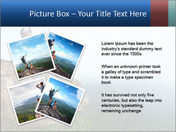 Couple Sitting On Cliff PowerPoint Template - Slide 23