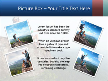 Couple Sitting On Cliff PowerPoint Template - Slide 24