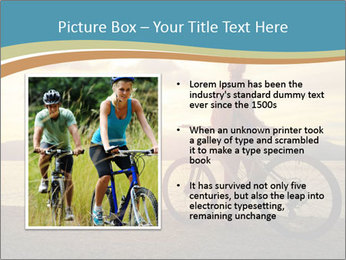 Cyclist Enjoying Sunset PowerPoint Templates - Slide 13