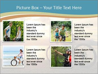 Cyclist Enjoying Sunset PowerPoint Templates - Slide 14