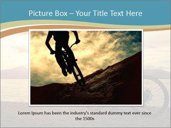 Cyclist Enjoying Sunset PowerPoint Templates - Slide 15