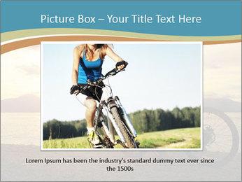Cyclist Enjoying Sunset PowerPoint Templates - Slide 16
