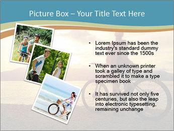 Cyclist Enjoying Sunset PowerPoint Templates - Slide 17